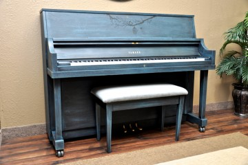 Yamaha studio blue artsy acoustic upright piano used for sale rent rental gilbert chandler tempe queene creek scottsdale glendale peoria buckeye surprise sun city mesa arizona phoenix my first gallery az