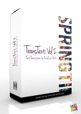 Final Cut Pro X Plugin TransText Volume 2 from Pixel Film Studios