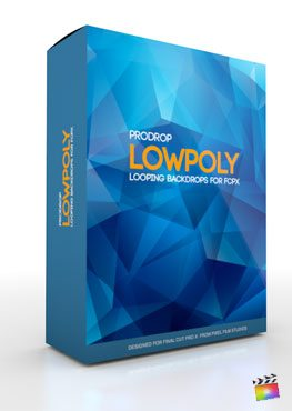 Final Cut Pro X Plugin ProDrop LowPoly from Pixel Film Studios