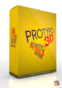 Final Cut Pro X Plugin ProTypo 3D from Pixel Film Studios