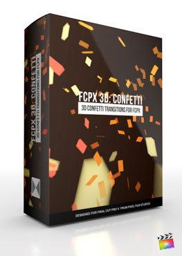 Final Cut Pro X Plugin FCPX 3D Confetti from Pixel Film Studios