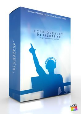 Final Cut Pro X Plugin FCPX Overlay DJ Lights 4K from Pixel Film Studios