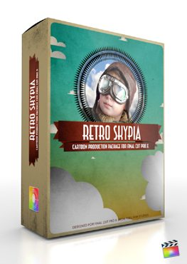 Final Cut Pro X Plugin Production Package Retro Skypia from pixel Film Studios