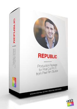 Final Cut Pro X Plugin Production Package Republic from Pixel Film Studios