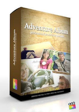 Final Cut Pro X Plugin Production Package Adventure Album from Pixel Film Studios