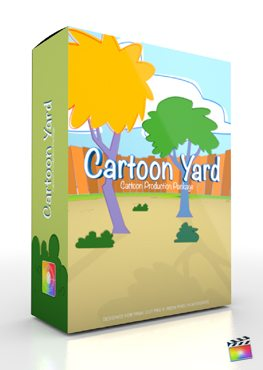 Final Cut Pro X Plugin Production Package Cartoon Yard from Pixel Film Studios