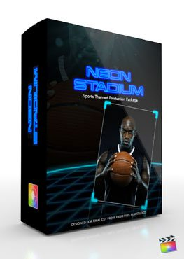 Final Cut Pro X Plugin Production Package Theme Neon Stadium from Pixel Film Studios