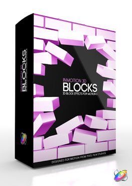 Apple Motion 5 Plugin InMotion 3D Blocks from Pixel Film Studios