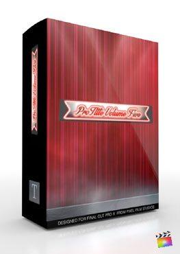 Final Cut Pro X Plugin ProTitle Volume 5 from Pixel Film Studios