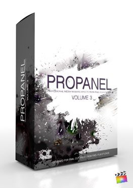Final Cut Pro X Plugin ProPanel Volume 3 from Pixel Film Studios