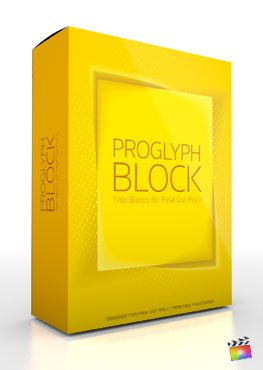 Final Cut Pro X Plugin ProGlyph Block from Pixel Film Studios