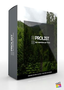 Final Cut Pro X Plugin ProList from Pixel Film Studios