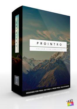 Final Cut Pro X Plugin ProIntro Volume 5 from Pixel Film Studios