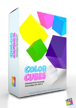 Final Cut Pro X Plugin Production Package Color Cubes from Pixel Film Studios