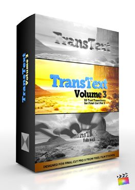 Final Cut Pro X Plugin TransText Volume 3 from Pixel Film Studios