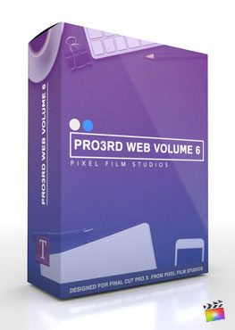 Final Cut Pro X Plugin Pro3rd Web Volume 6 from Pixel Film Studios