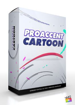 Final Cut Pro X Plugin ProAccent Cartoon from Pixel Film Studios