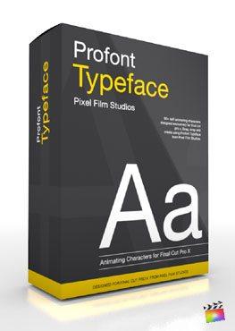 Final Cut Pro X Plugin Production Package ProFont Typeface from Pixel Film Studios