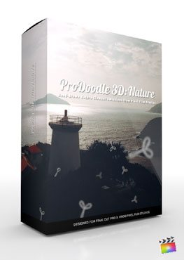 Final Cut Pro X Plugin ProDoodle 3D Nature from Pixel Film Studios