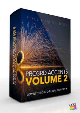 Final Cut Pro X Plugin Pro3rd Accents Volume 2 from Pixel Film Studios
