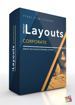 Final Cut Pro X Plugin ProText Layouts Corporate from Pixel Film Studios