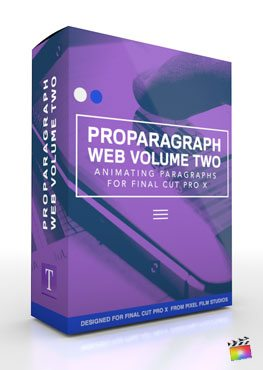 Final Cut Pro X Plugin ProParagraph Web Volume 2 from Pixel Film Studios