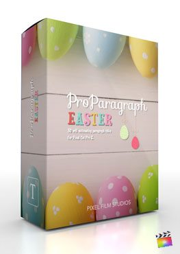 Final Cut Pro X Plugin ProParagraph Easter from Pixel Film Studios