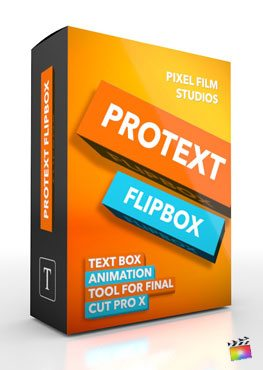 Final Cut Pro X Plugin ProText FlipBox from Pixel Film Studios