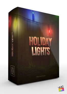 Final Cut Pro X Theme Holiday Lights from Pixel Film Studios