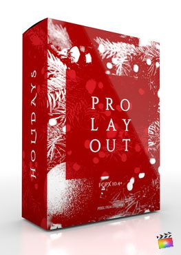 Final Cut Pro X Plugin ProLayout Holidays from Pixel Film Studios