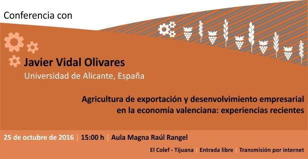 Banner Agricultura de exportación y desenvolvimiento empresarial en la economía valenciana: experiencias recientes. 25 oct