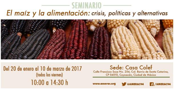 Banner El maíz y la alimentación: crisis, políticas y alternativas