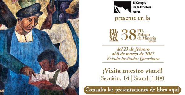 Banner El Colef presente en la 38 FIL Palacio de Minería