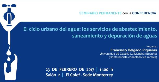 Banner El ciclo urbano del agua: los servicios de abastecimiento, saneamiento y depuración de aguas