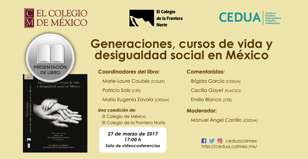 Banner Generaciones, cursos de vida y desigualdad social en México