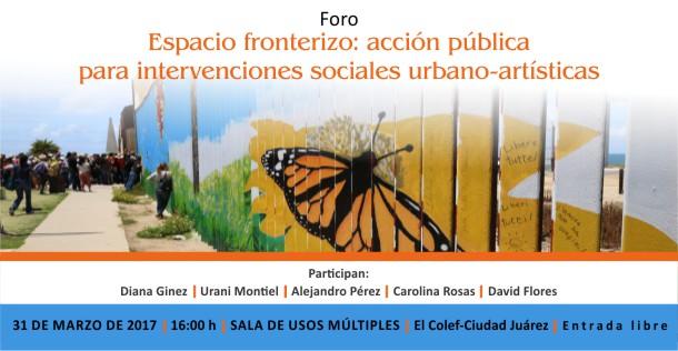 Banner Espacio fronterizo: acción pública para intervenciones sociales urbano-artísticas