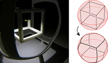 Cube radial projection for website