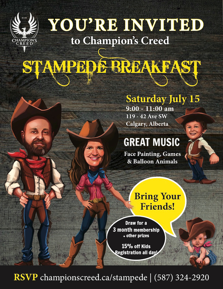 Champion's Creed Stampede Breakfast