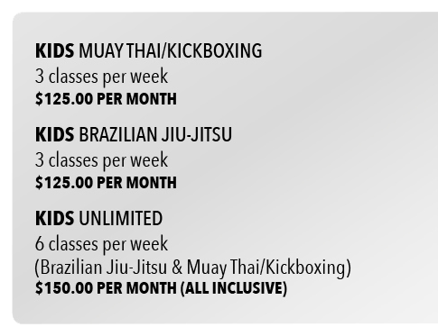 Kids Class Fees Grey Box