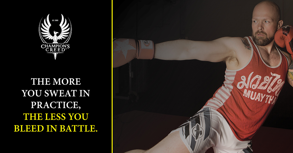Quote: The More You Sweat, the Less You Bleed in Battle