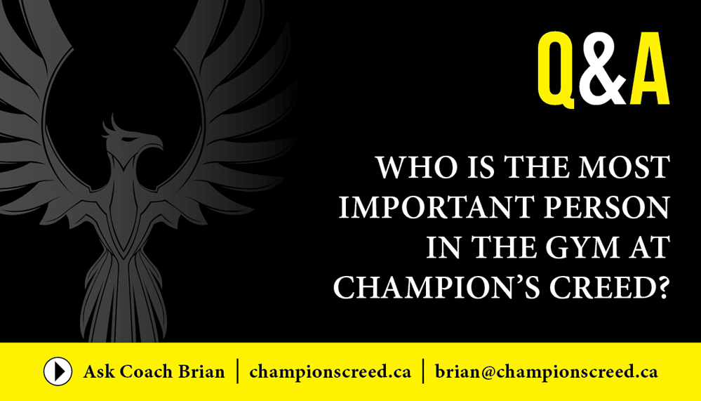 Who Is The Most Important Person In The Gym At Champions Creed?