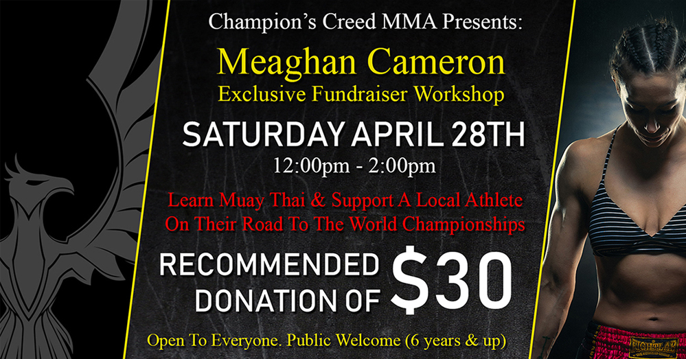 Meaghan Cameron Exclusive Kickboxing Fundraiser Workshop