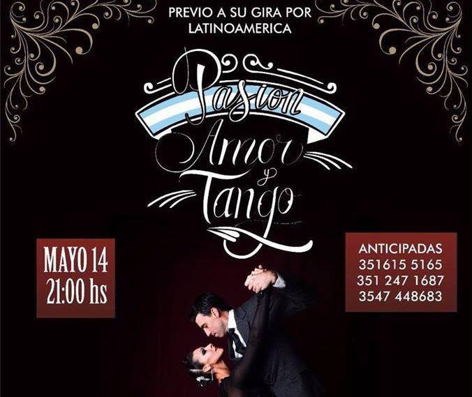 Flyer de Pasión, Amor y Tango