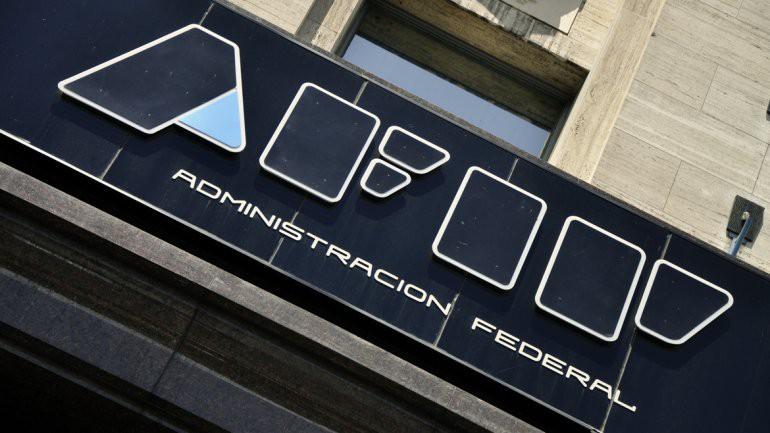 Cartel de entrada de la AFIP