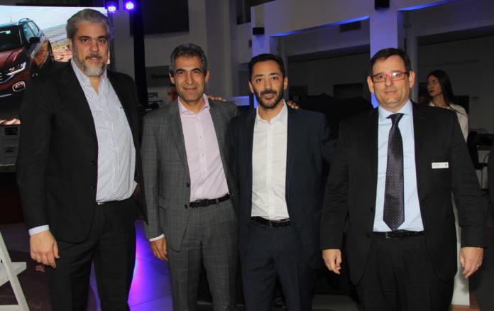 Autoridades de VW y Yacopini: Martín Bichutte, Sergio Montanaro, Pablo Stefani y Mariano Castelli.