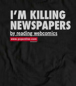 ShirtKilling Newspapers by Reading Webcomics