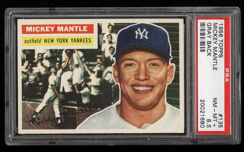 Image of: 1956 Topps Mickey Mantle #135 PSA 8.5 NM-MT+ (PWCC)