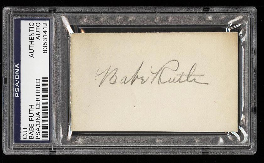 Image of: Babe Ruth Signed Autograph Cut AUTO PSA/DNA AUTH (PWCC)