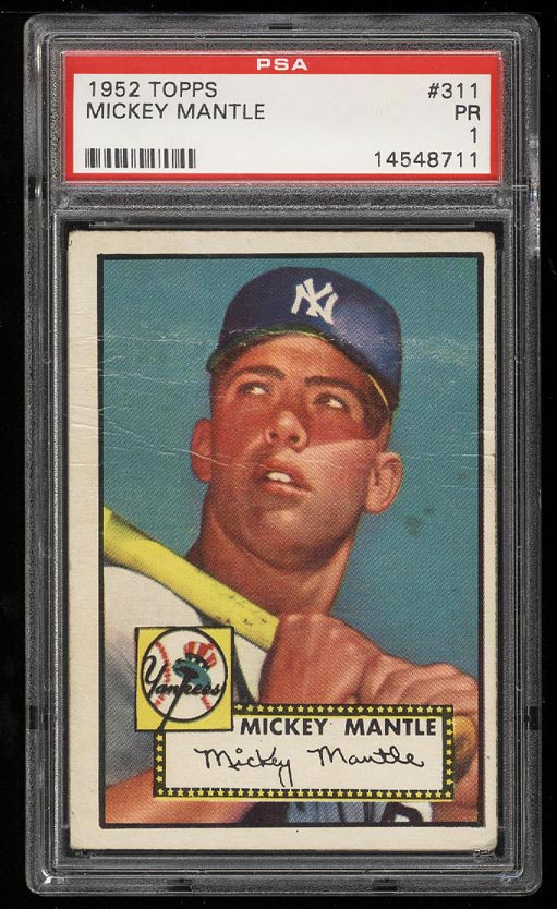 Image of: 1952 Topps Mickey Mantle #311 PSA 1 PR (PWCC)