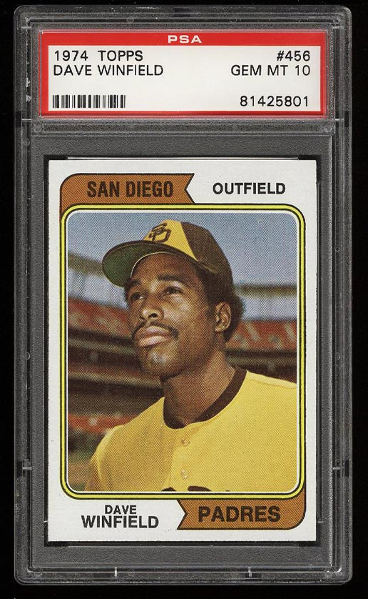 Image of: 1974 Topps Dave Winfield ROOKIE RC #456 PSA 10 GEM MINT (PWCC)